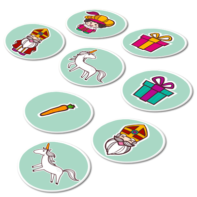 Sinterklaas stickervel (8 stickers)